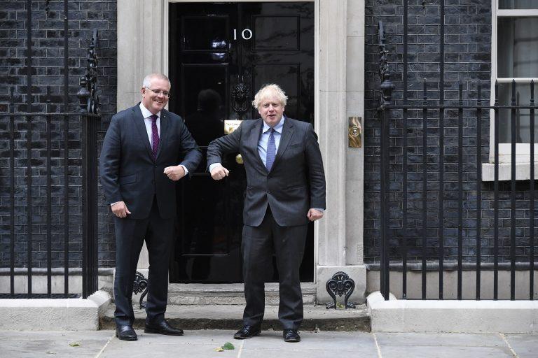 Boris Johnson a Scott Morrison