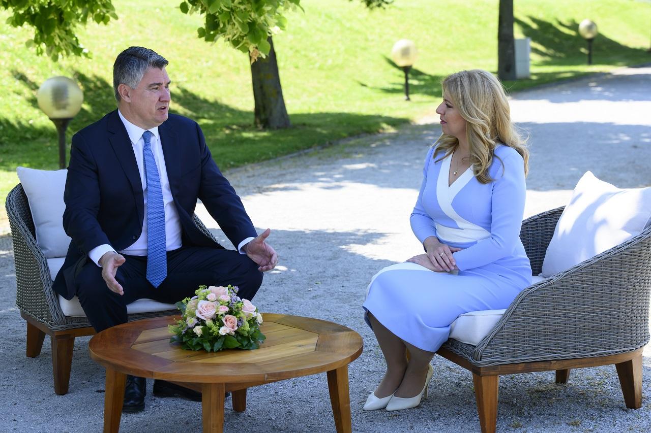 Stretnutie prezidentky SR Zuzany Čaputovej s chorvátskym prezidentom