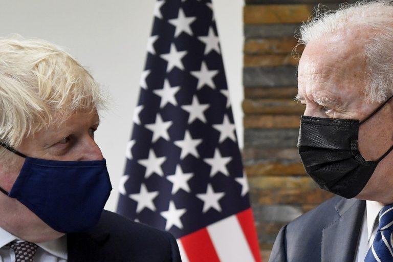 Boris Johnson, Joe Biden