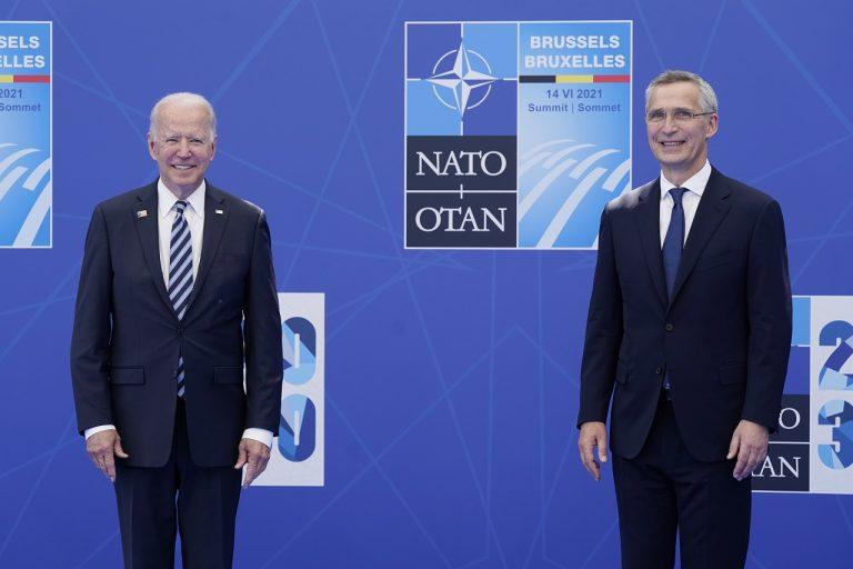 Jens Stoltenberg a Joe Biden