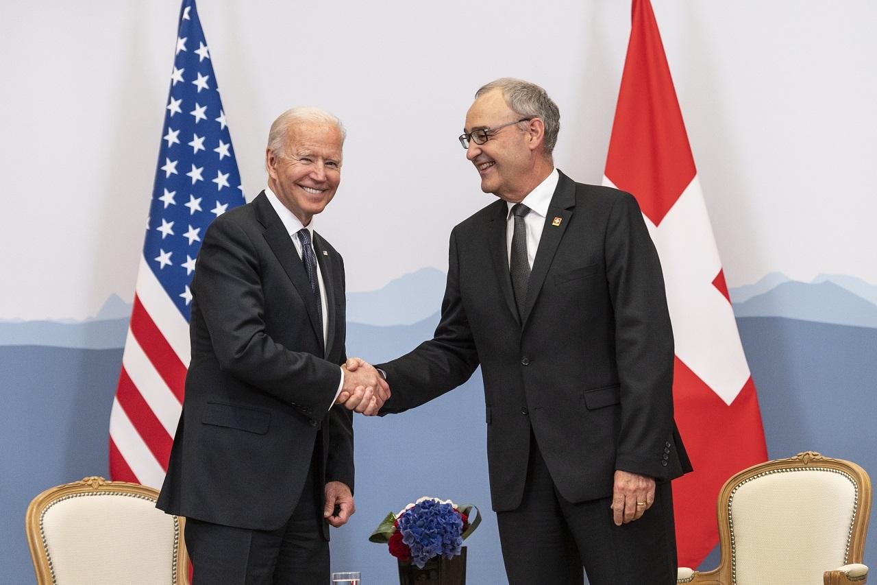 Joe Biden a Guy Parmelin