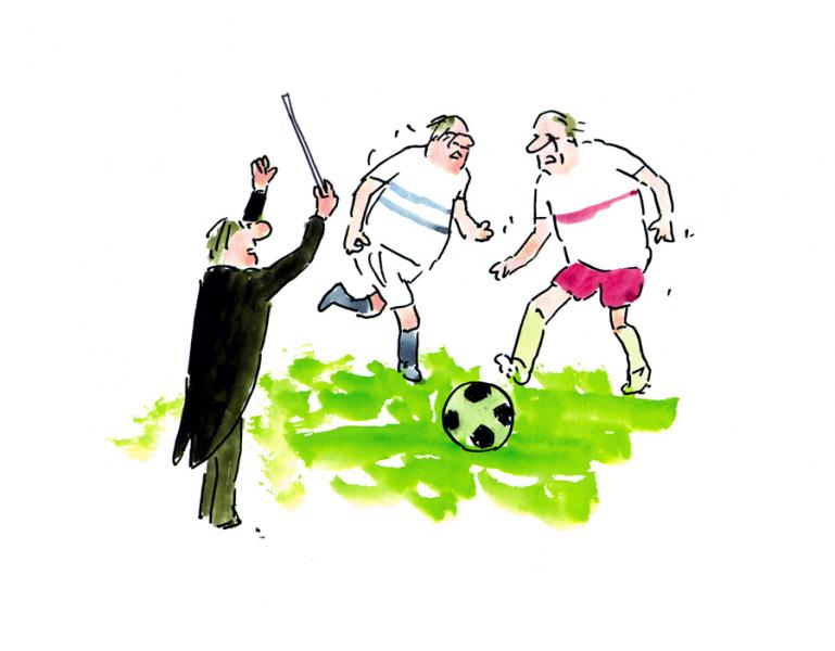 One... two... three...Zelenáa je tráava, futbal to je hra...