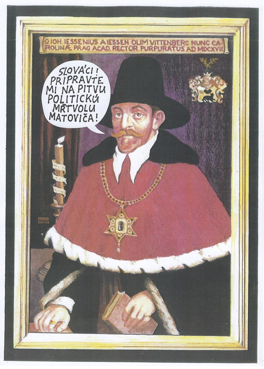 Výzva Slováka Jána Jesenského - Jessenia, aktéra prvej verejnej pitvy, popraveného pred 400 rokmi v Prahe