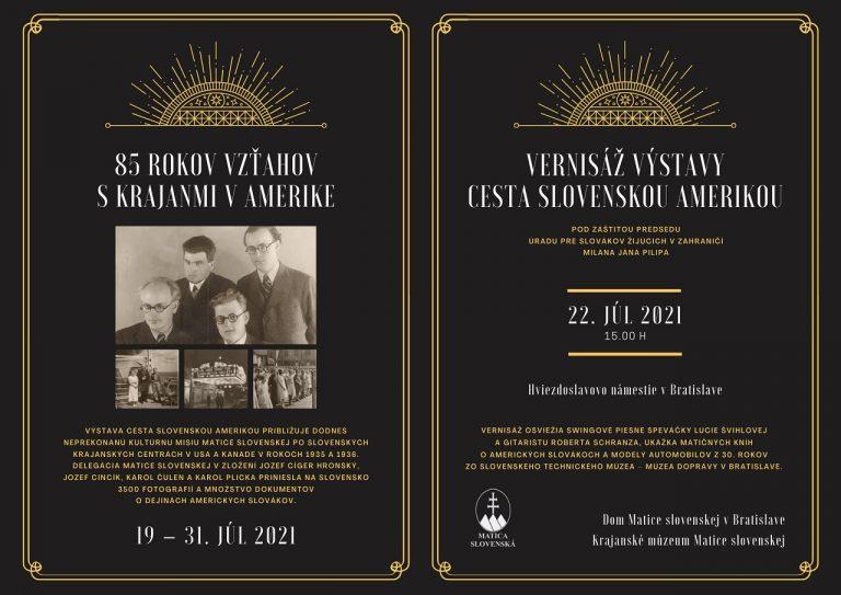 Cesta slovenskou Amerikou - vernisáž