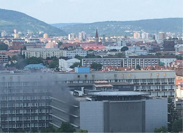 požiar v nemocnici Košice