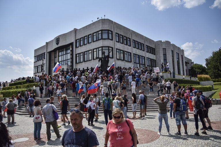 protest pred NR SR v Bratislave