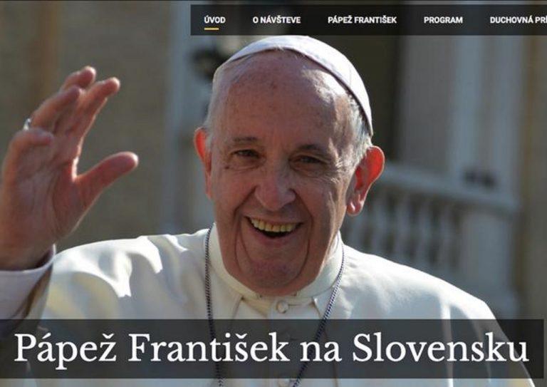 Pápež František na Slovensku, program