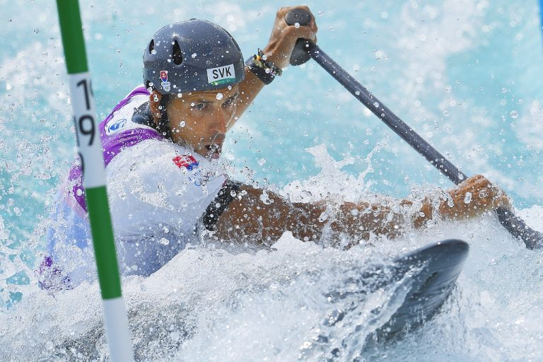 Matej Beňuš vodný slalom
