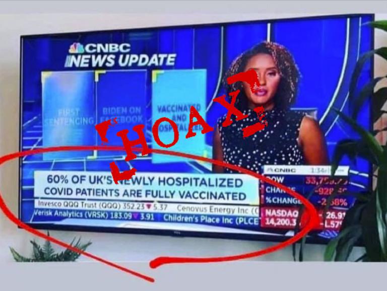 Polícia vyvracia hoax o vysokom množstve hospitalizácií po očkovaní v Spojenom kráľovstve