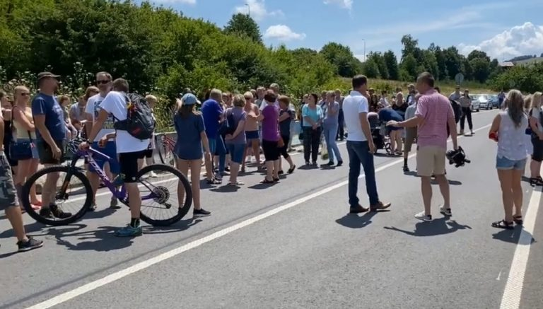 protest hranice Čunovo - Rajka