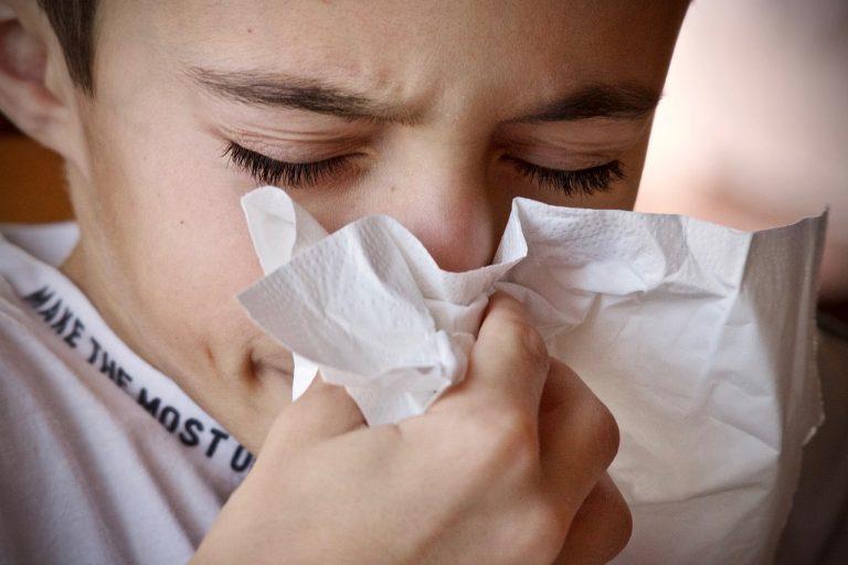nádcha prechladnutie alergia nos vreckovka