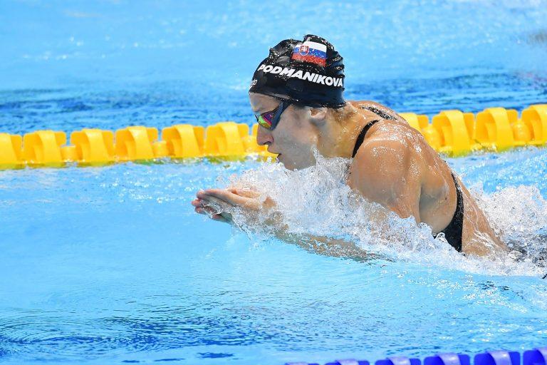 slovenská plavkyňa Andrea Podmaníková 100 m prsia