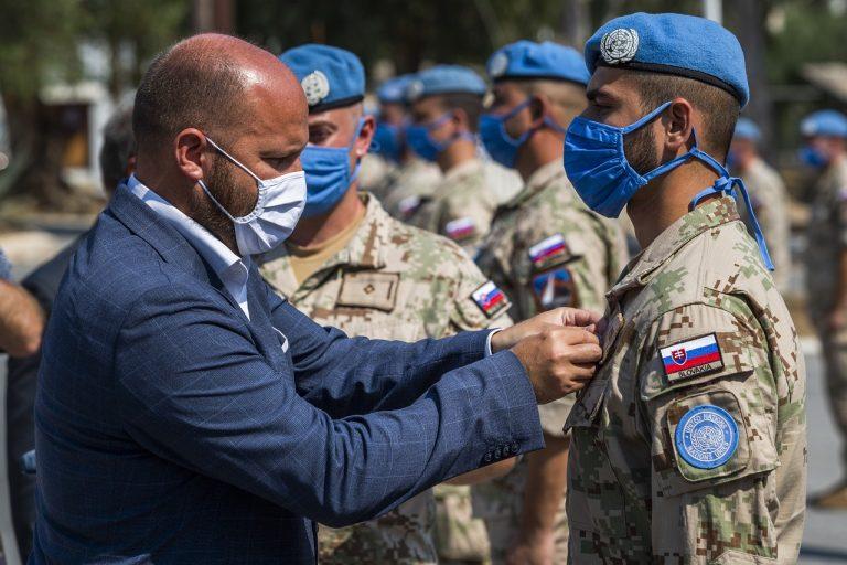oceňovanie medaila OSN slovenskí vojaci