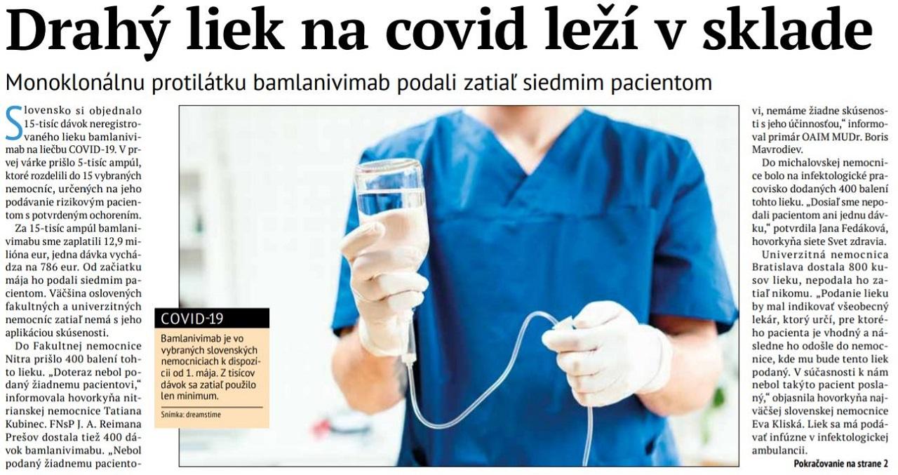 Článok v Zdravotníckych novinách
