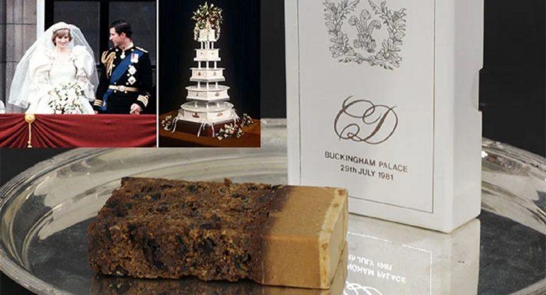 princ Charles a princezná Diana Spencerová torta