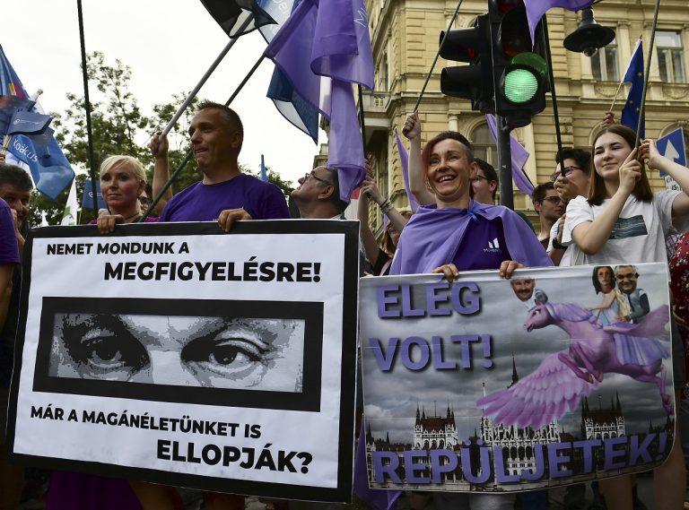 budapest pegasus protest