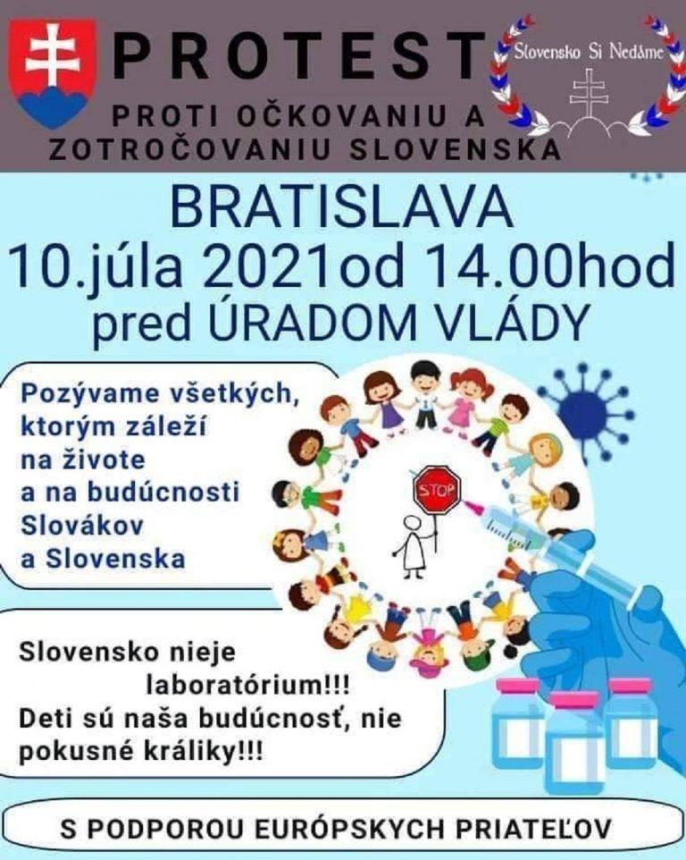 protest proti nátlakovému očkovaniu