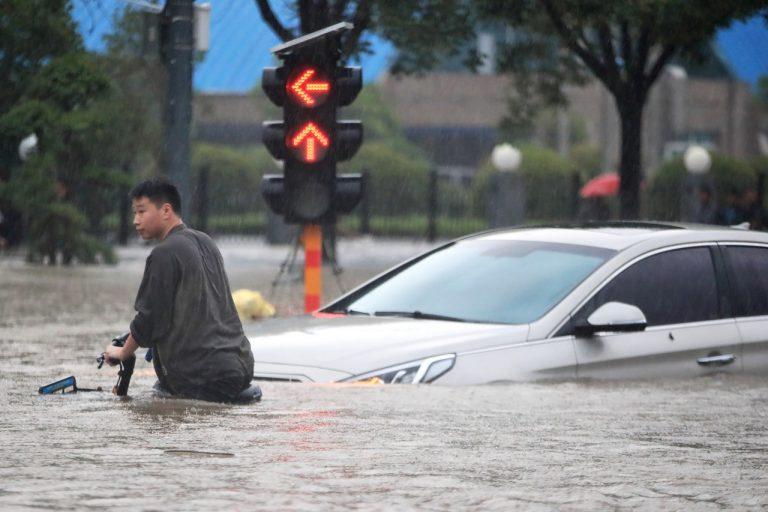 Čína počasie záplavy povodne