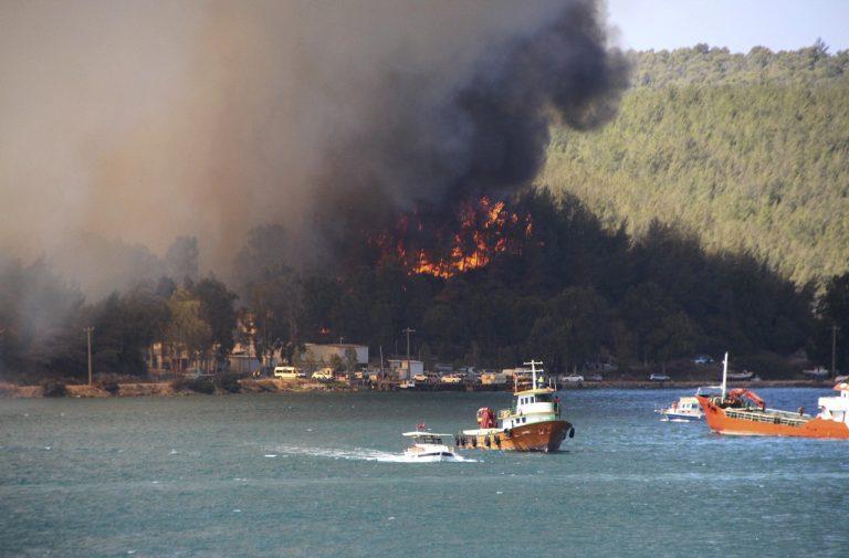 Turecko Antalya požiar
