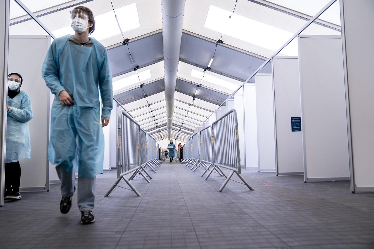 novootvorené centrum pre rýchlotestovanie na ochorenie COVID-19, Kodaň