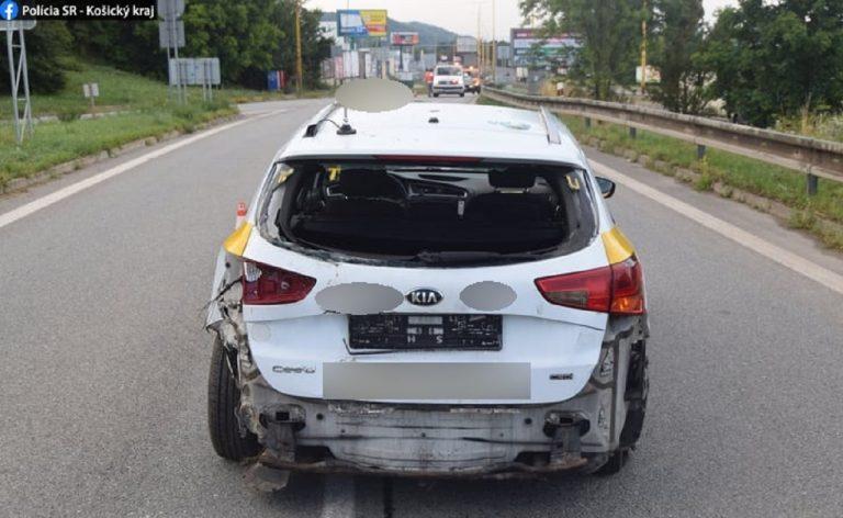 nehoda auta v Košiciach