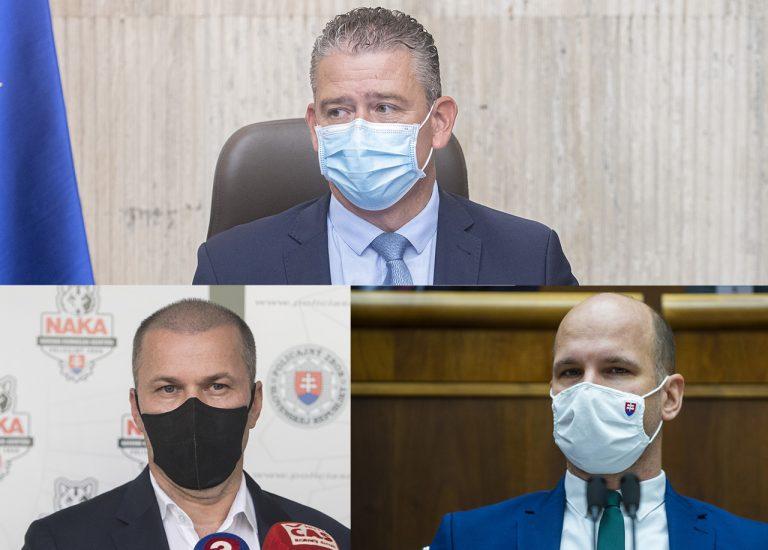 Roman Mikulec, Peter Kovařík a Gábor Grendel