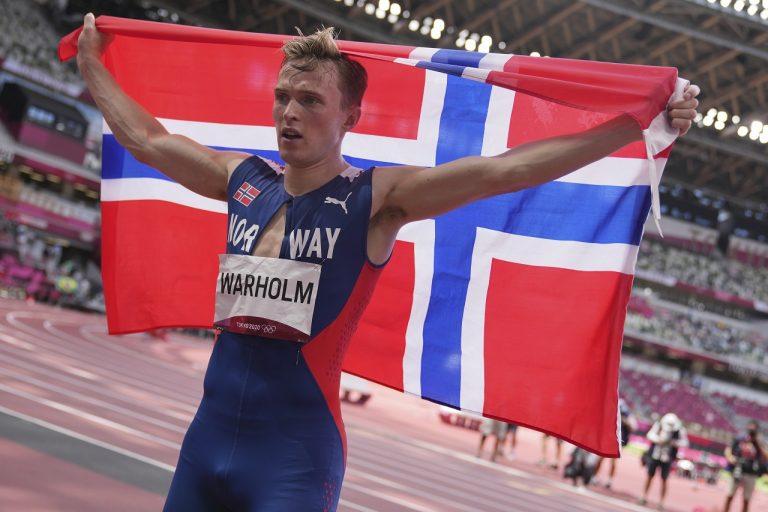 Karsten Warholm svetový rekord zlato