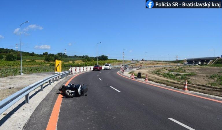 polícia nehoda motocykel svedok