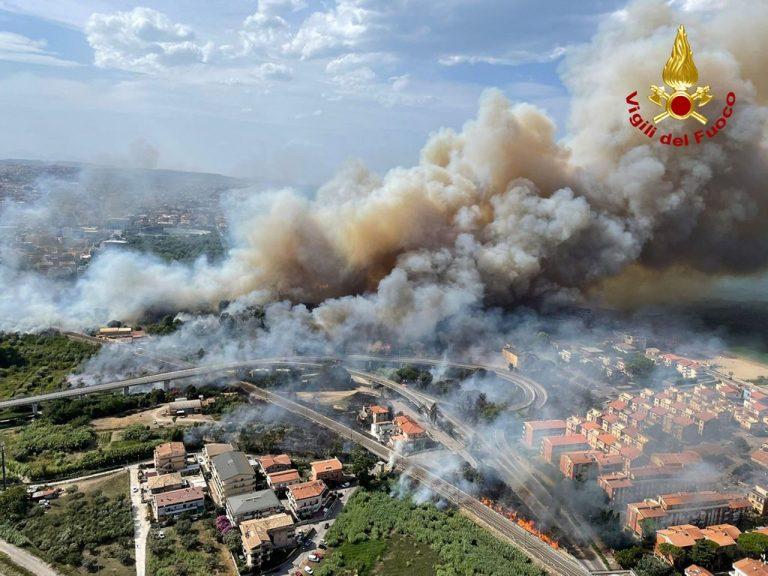 Lesný požiar v Taliansku