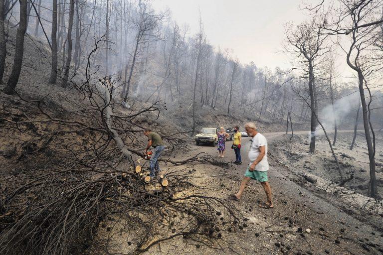 Lesné požiare v Grécku