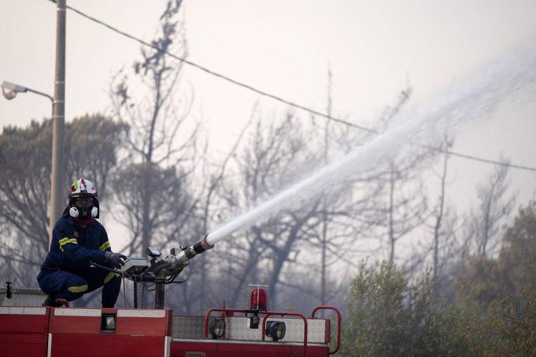 požiar Atény