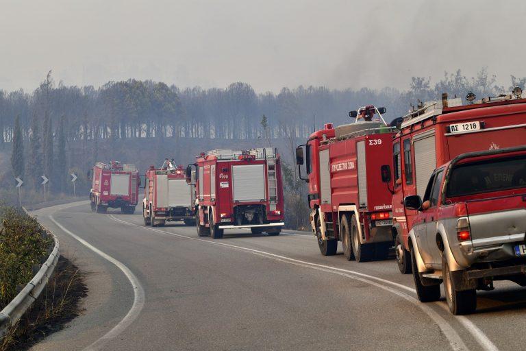 Kolóna hasičských áut