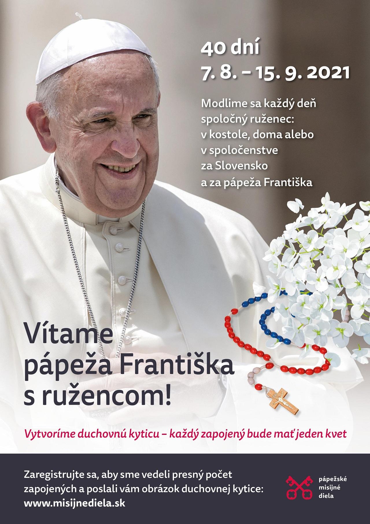 Vítame pápeža s ružencom