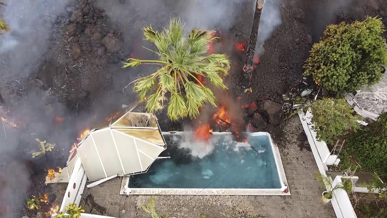 La Palma  sopka La Cumbre Vieja