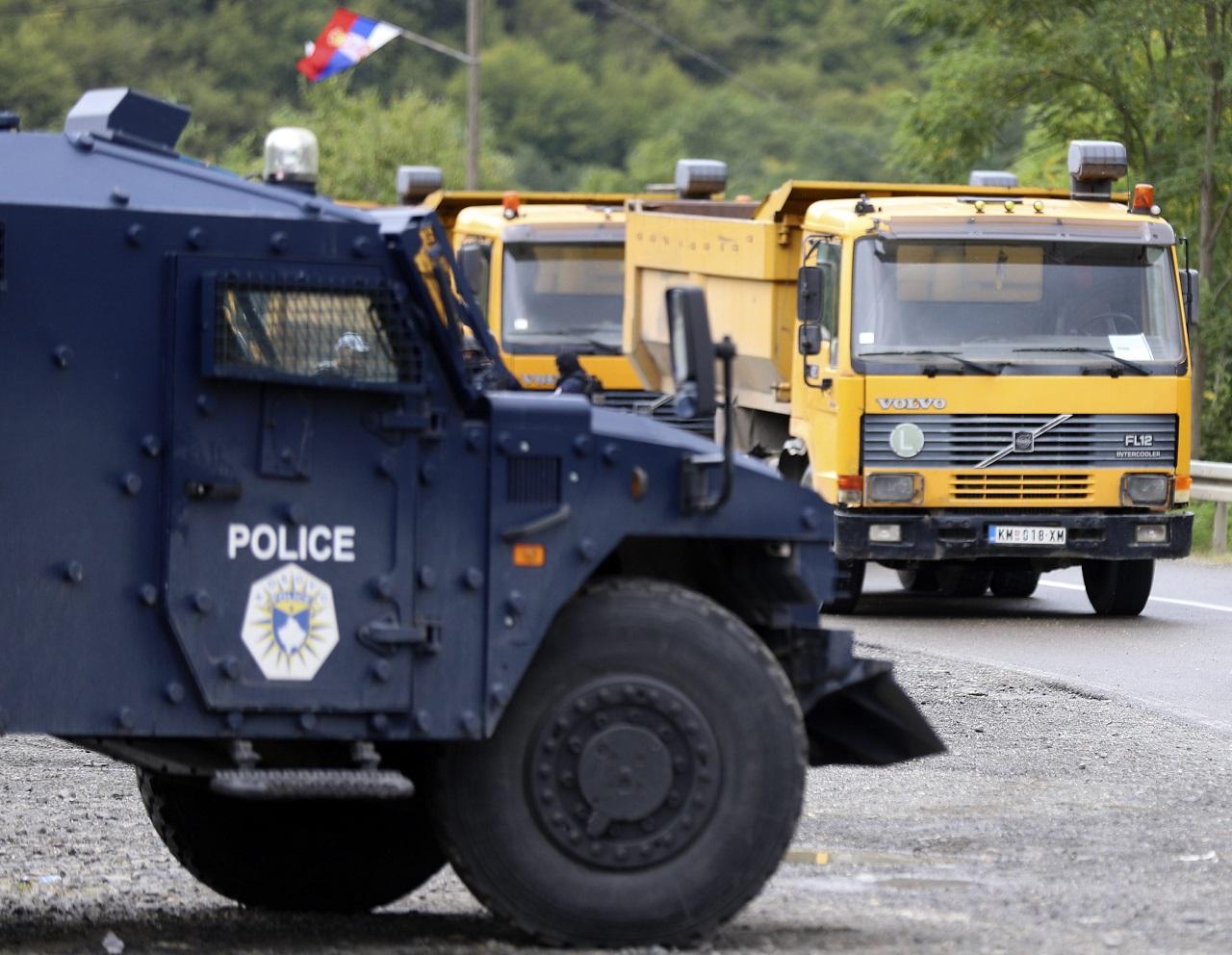 Kosovskí Srbi protest