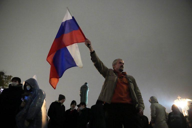 rusko protest