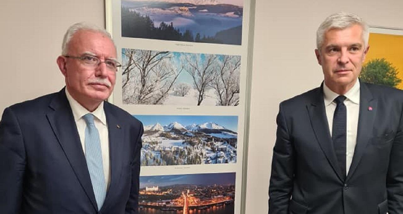 Ivan Korčok a palestínsky minister zahraničných vecí Rijád Málikí