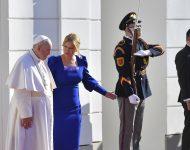 Na snímke pápež František a prezidentka SR Zuzana Čaputová