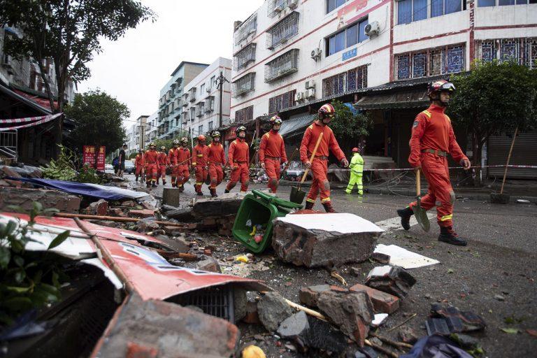 Čína zemetrasenie
