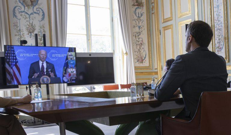 Emmanuel Macron Joe Biden