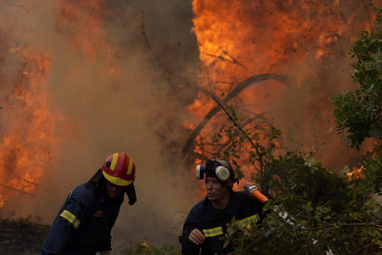 Grécko požiare lesné