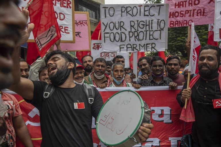 India farmári zákony poľnohospodárstvo štrajk celoštátny