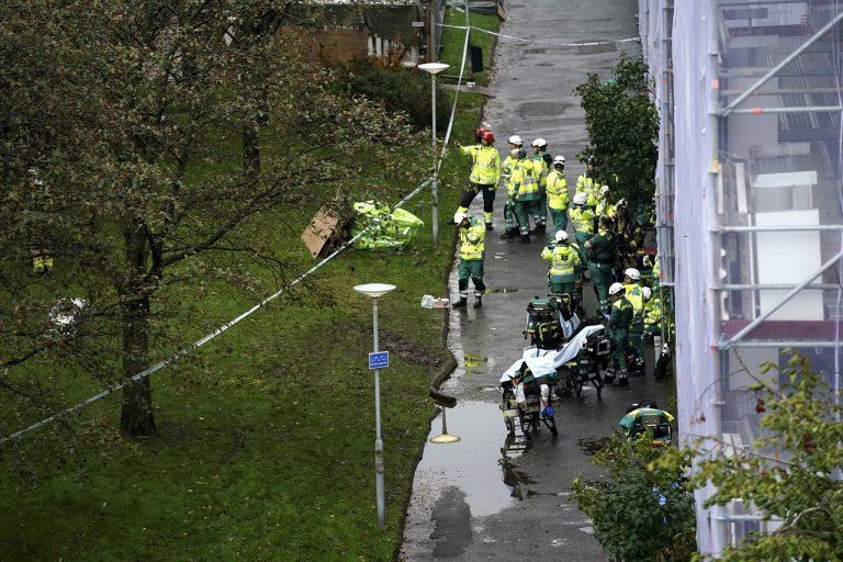 Švédsko dom výbuch zranení