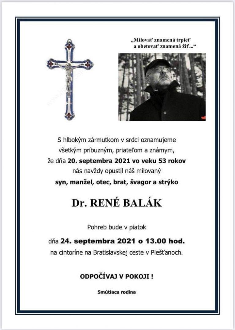 Dr. René Balák