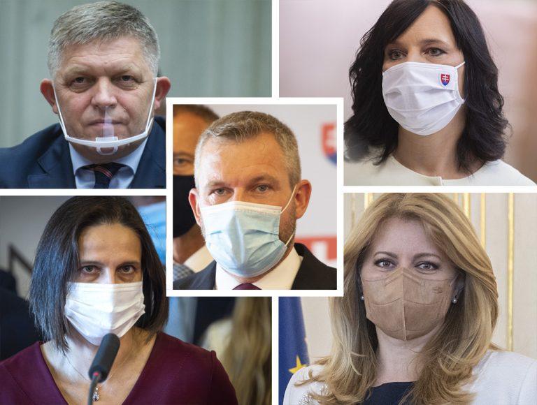 Robert Fico Veronika Remišová Mária Kolíková Zuzana Čaputová Peter Pellegrini
