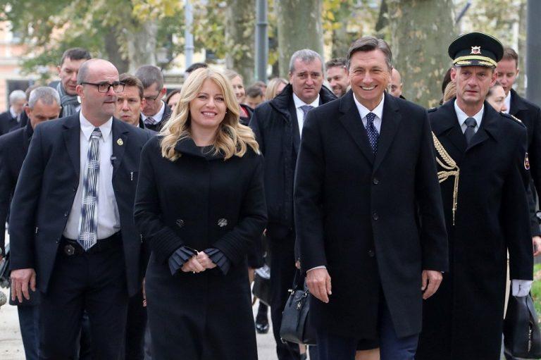 Zuzana Čaputová, Borut Pahor