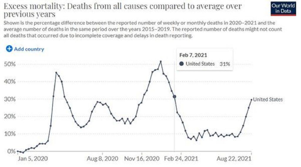 nadmerná úmrtnosť USA