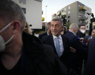Český premiér a líder kandidátky hnutia ANO Andrej Babiš prichádza  9. októbra 2021 v Prahe